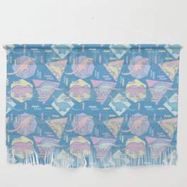 Nineties Dinosaurs Pattern  - Pastel version Wall Hanging
