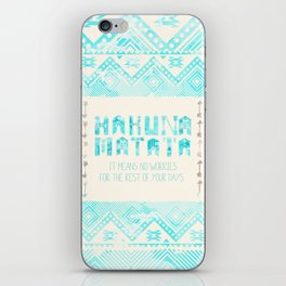 Hakuna Matata No Worries iPhone Skin