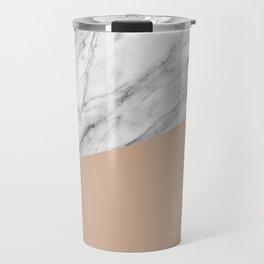 Marble and Hazelnut Color Travel Mug