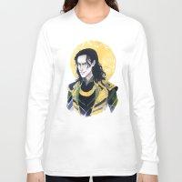 enerjax Long Sleeve T-shirts featuring Loki of Asgard by enerjax