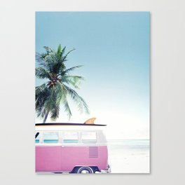 Pink Retro Van Canvas Print