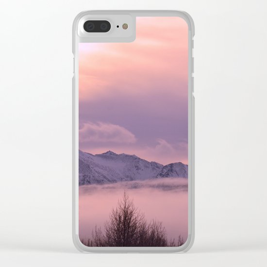 Rose Serenity Winter Fog Clear iPhone Case