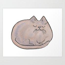 Sleepy Kitty Lump Art Print