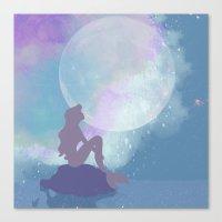 ariel Canvas Prints featuring ariel by Vita♥G
