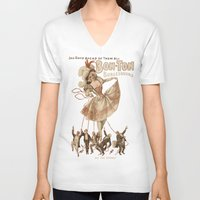burlesque V-neck T-shirts featuring Bon-Ton Burlesque by taiche