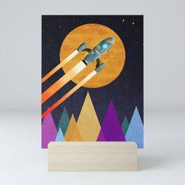 Rocket  2nd Star to the right  LLAP Mini Art Print