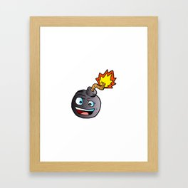 bomb explosive character mascot Framed Art Print