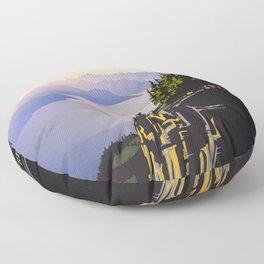 Retro travel BC poster Floor Pillow