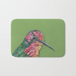 Green background Annas Hummingbird Bath Mat