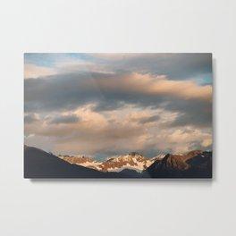 Alaskan Mountain Sunset II Metal Print