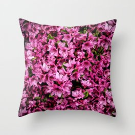 Azalea In Bloom Pattern Throw Pillow