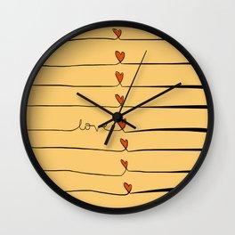 Lovelines Wall Clock