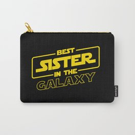 Funny Best Sister Ever In The Galaxy Sci-Fi Space T-Shirt Carry-All Pouch