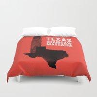 gore Duvet Covers featuring Texas Chainsaw Massacre by Wharton