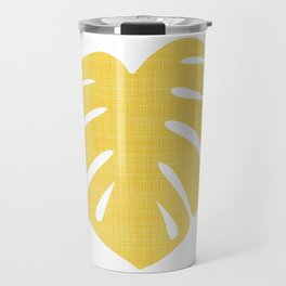 Tropical Leaf in Red and Yellow Travel Mug