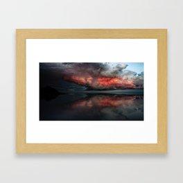 Red cloud reflect Framed Art Print