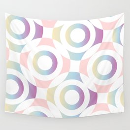 Circle composition in soft pastel colors Wall Tapestry