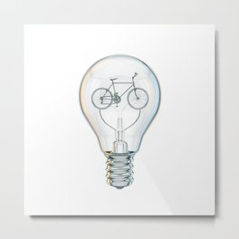 Light Bicycle Bulb Metal Print