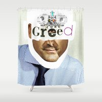 motivation Shower Curtains featuring Mankind Motivation 2 by Marko Köppe