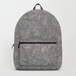 Gray Galvanized Metal Backpack