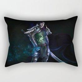 Justicar Mazzello (Joe Mazzello fanart - fantasy knight editon) Rectangular Pillow