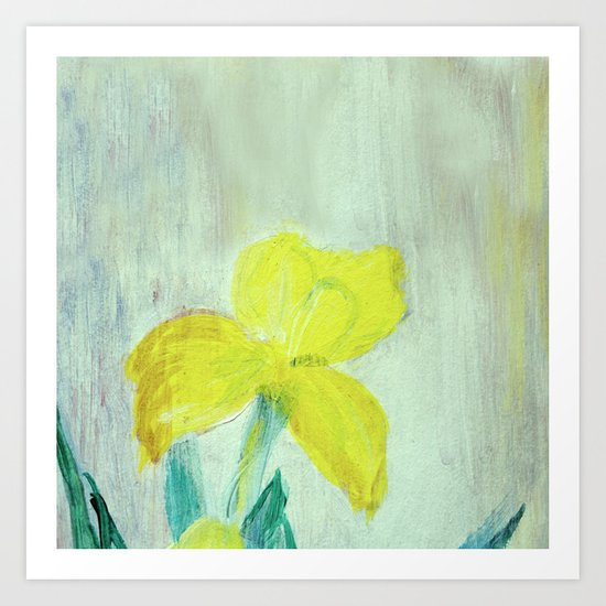 Sunny iris 5 Art Print