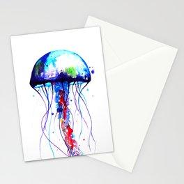 Jellyfish blue Stationery Cards