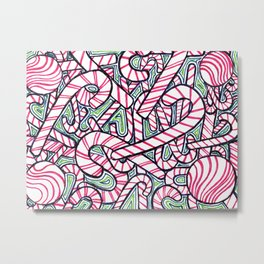 Mints and Candy Canes Metal Print