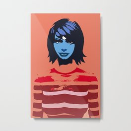 Stacey in blue Metal Print