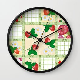 Colorful summer pacifrc. Wall Clock