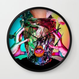 """hormones"" valentine series by weart2.com Wall Clock"