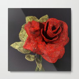 By Any Other Name (Red Rose) Metal Print