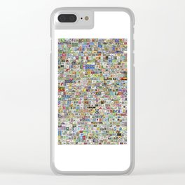 Soccer Stamps Clear iPhone Case