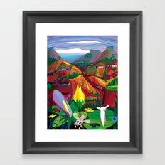 Mill Valley to Zen Gulch Framed Art Print