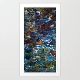 Sweeping Colors in Acrylic Art Print