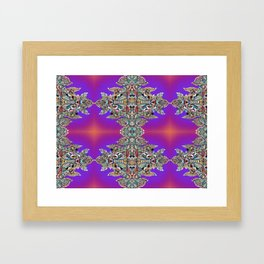 Psycho Exotic, The Hindu Temple in Singapore Framed Art Print