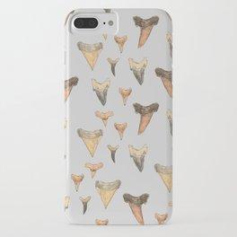Shark Teeth Study - Grey iPhone Case
