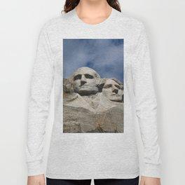 George Washington And Thomas Jefferson  - Mount Rushmore Long Sleeve T-shirt