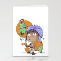 aladdin Stationery Cards featuring Cute Aladdin by EY Cartoons