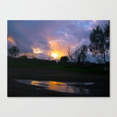 Sunset from my house 4 Canvas Print