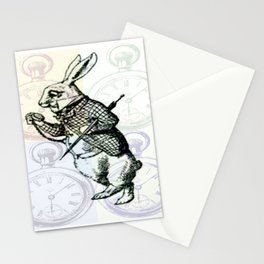 White Rabbit Time Stationery Cards