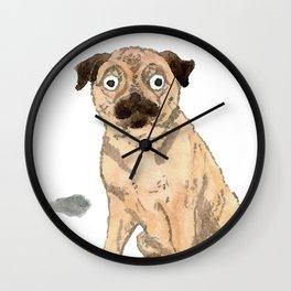 Pug with balloons Wall Clock