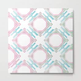 Pastel Diamonds Metal Print