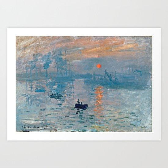 Claude Monet - Impression Sunrise by favoritepaintingsart