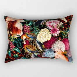 Floral and Animals pattern II Rectangular Pillow