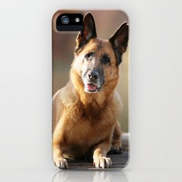 German Shepherd enjoys the Indian Summer iPhone Case