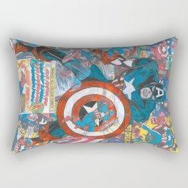 Vintage Comic Capt America Rectangular Pillow
