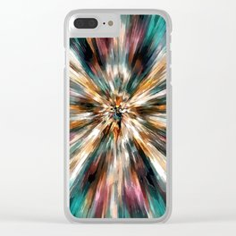 Earth Tones Tie Dye Clear iPhone Case