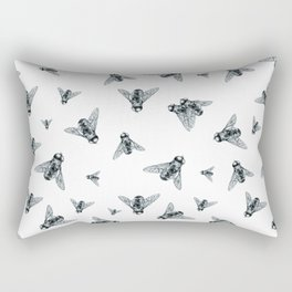 Fly Dotwork Rectangular Pillow