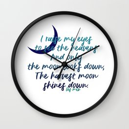 I raise my eyes to see the heavens - Les Miserables Wall Clock